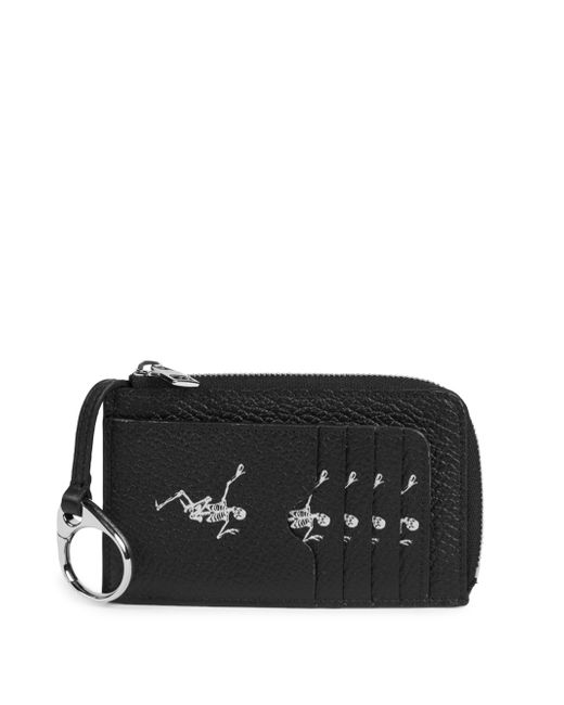 Alexander McQueen - Black Large Zip Leather Coin Card Case - Lyst