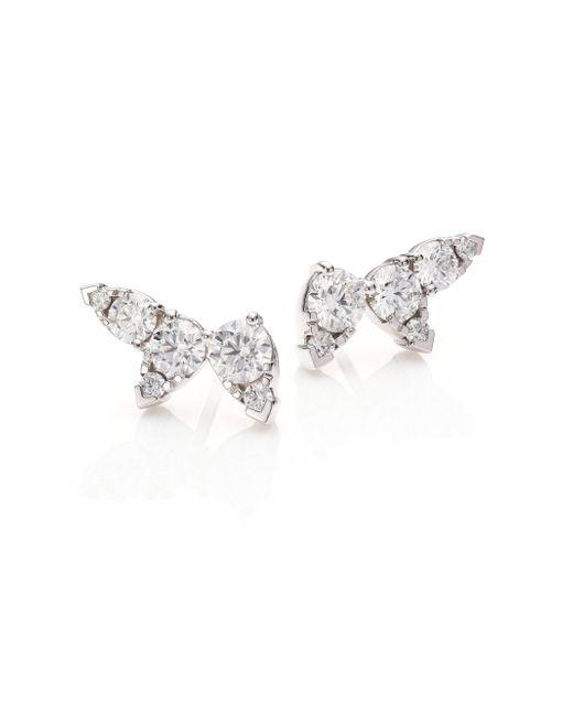 Hearts On Fire - Metallic Aerial Diamond & 18k White Gold Ear Vine Earrings - Lyst