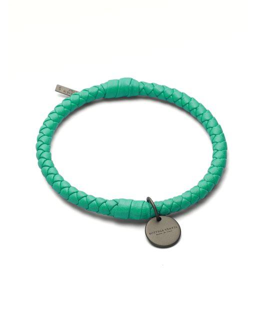 Bottega Veneta | Green Intrecciato Leather Bracelet | Lyst