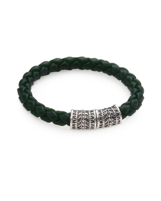 Stephen Webster - Gray Sterling Silver & Woven Rubber Bracelet for Men - Lyst