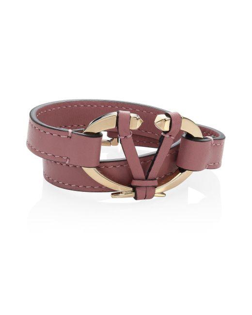 Valentino - Multicolor Rivet Leather Bracelet - Lyst