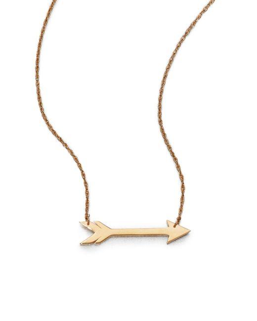 Jennifer Zeuner Yellow Arrow Necklace