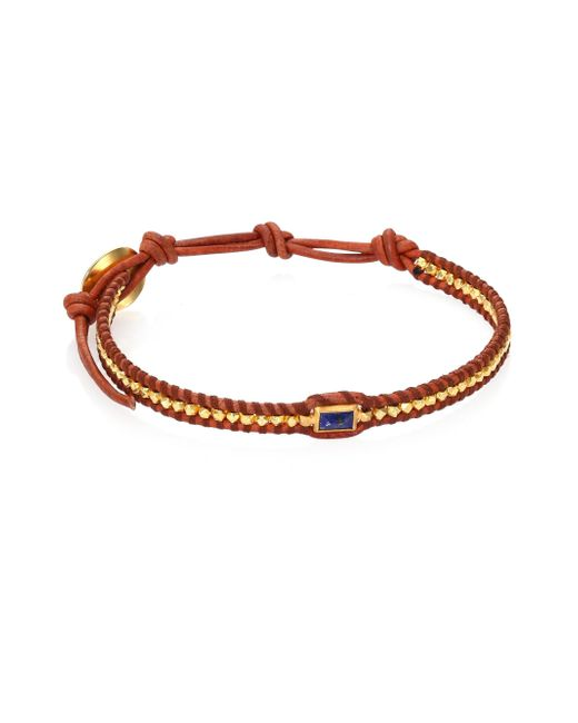 Chan Luu | Red Lapis & Natural Leather Bracelet | Lyst