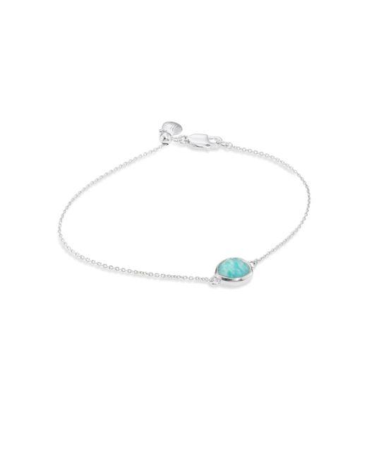 Monica Vinader - Multicolor Siren Fine Chain Amazonite Bracelet - Lyst