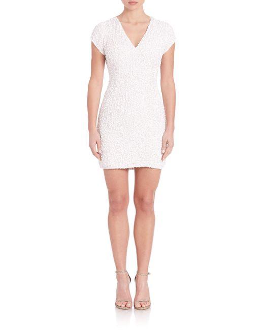 Parker Black   White Serena Embellished Dress   Lyst