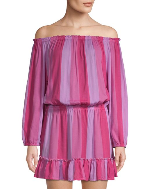 Cool Change - Pink Madelyn Off-the-shoulder Tunic Dress - Lyst