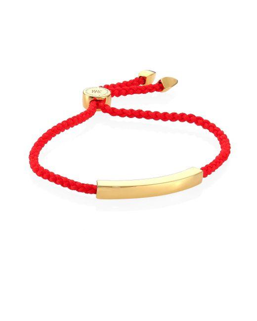 Monica Vinader - Multicolor Linear Bead Friendship Bracelet/coral - Lyst