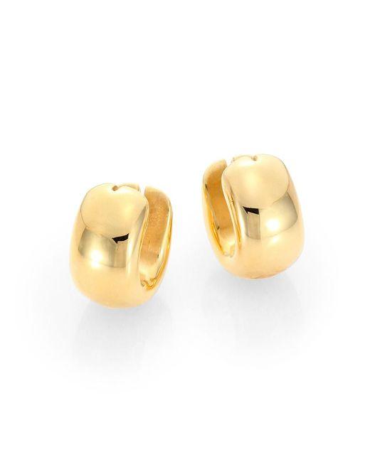 Roberto Coin Metallic 18k Yellow Gold Huggie Hoop Earrings/0.6