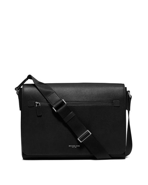 Michael Kors - Black Grain Leather Messenger Bag for Men - Lyst