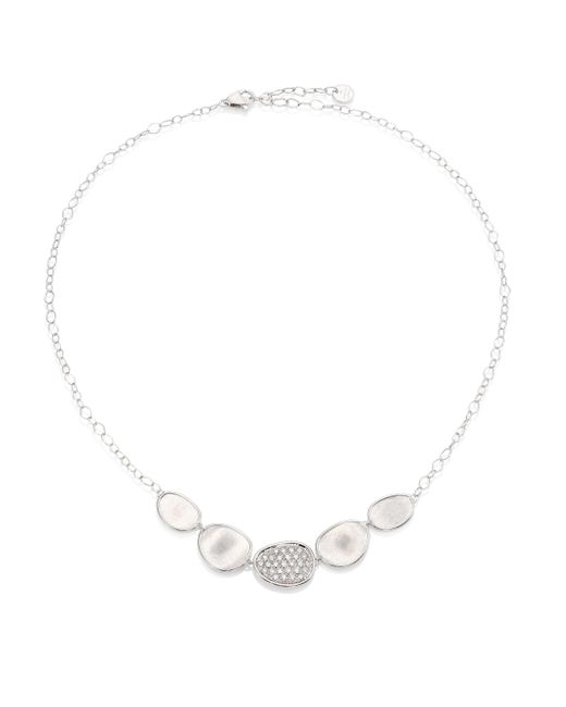 Marco Bicego - Metallic Lunaria Diamond & 18k White Gold Graduated Necklace - Lyst