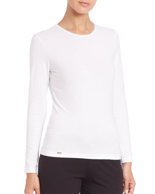 La Perla - White New Project Long-sleeve Tee - Lyst