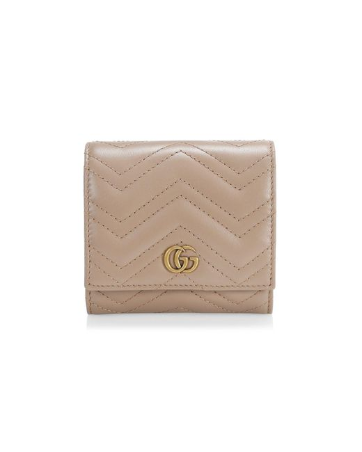 Gucci Natural GG Marmont Wallet