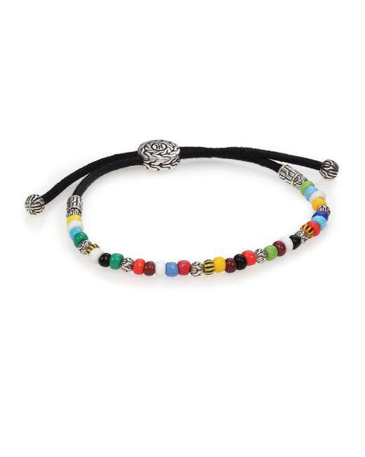 John Hardy - Multicolor Batu Classic Chain Sterling Silver & African Bead Bracelet - Lyst