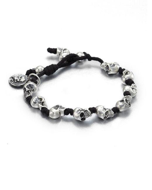 King Baby Studio Metallic Knotted Cord Bracelet for men