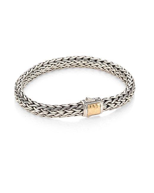 John Hardy - Metallic Classic Chain Hammered 18k Yellow Gold & Silver Medium Chain Bracelet - Lyst