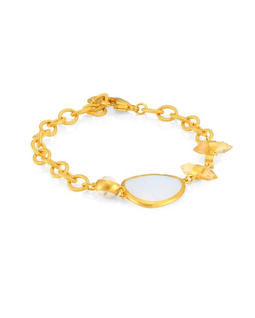 Chan Luu - Metallic Moonstone Mix Lobster Closure Bracelet - Lyst