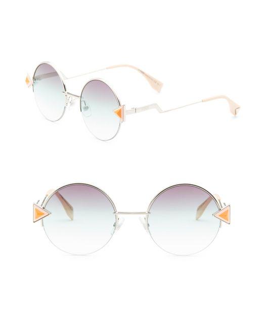 Fendi - Multicolor Rainbow 52mm Round Sunglasses - Lyst