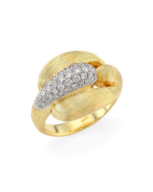 Marco Bicego - Metallic Legami Diamond & 18k Yellow Gold Ring - Lyst