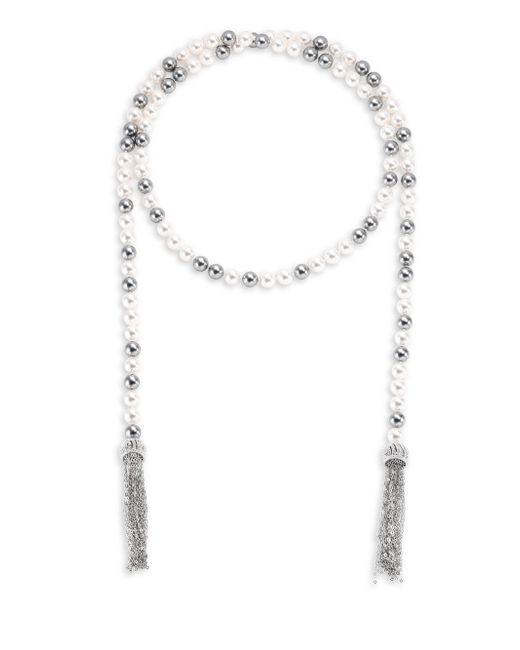 Adriana Orsini | Metallic Multi Faux-pearl Wrap Necklace/38 | Lyst