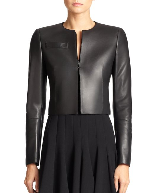 Akris - Black Architecture Collection Hasso Leather Jacket - Lyst