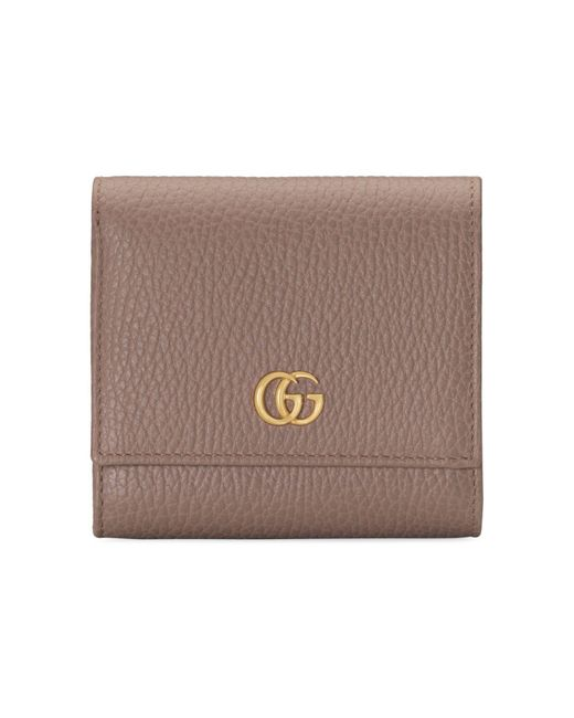 Gucci Brown GG Marmont Leather Wallet