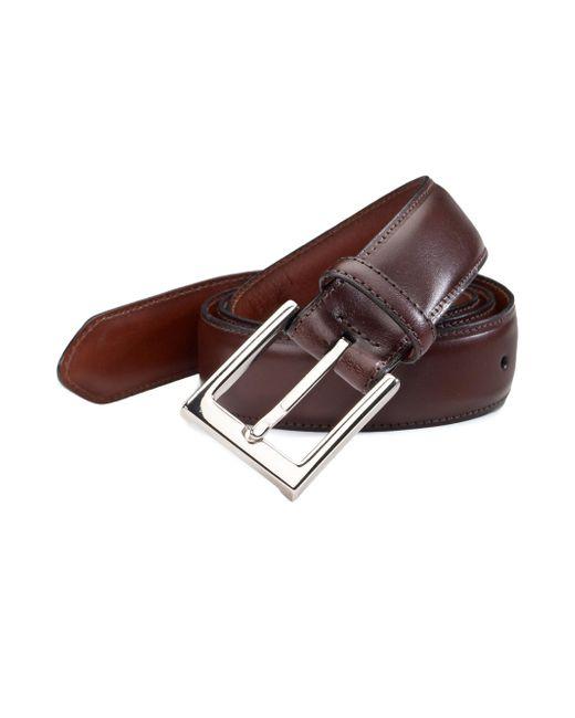 Saks Fifth Avenue | Brown Leather Belt for Men | Lyst