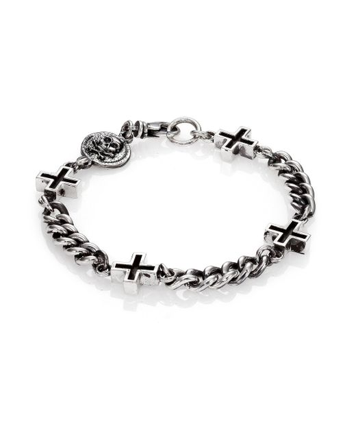 King Baby Studio | Metallic Ancient Cross Chain Bracelet | Lyst