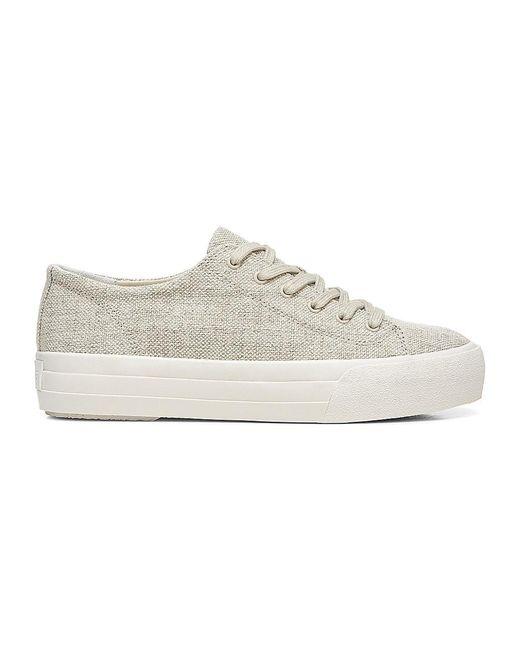 Vince Natural Heaton Canvas Platform Sneakers
