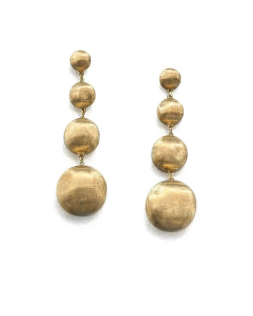 Marco Bicego - Metallic Africa 18k Yellow Gold Four-ball Drop Earrings - Lyst