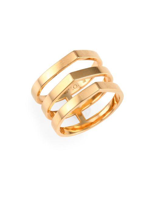 Repossi - Metallic Antifer Off Width 18k Rose Gold Ring - Lyst