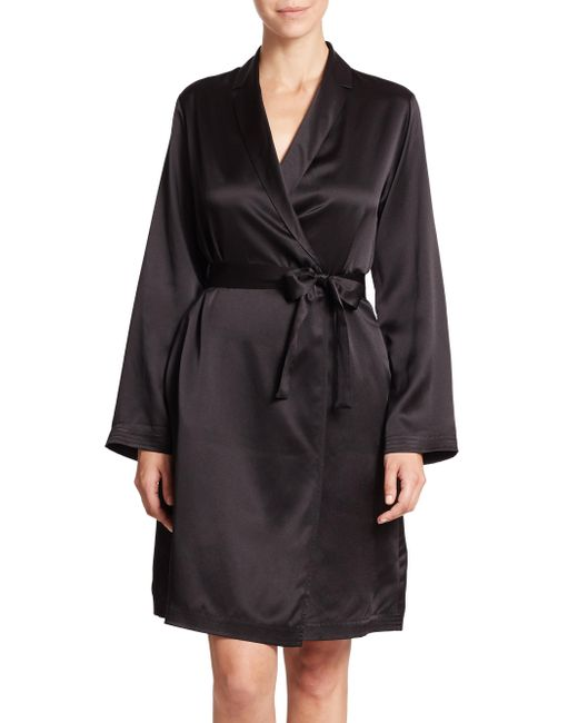 La Perla - Black Silk Robe - Lyst