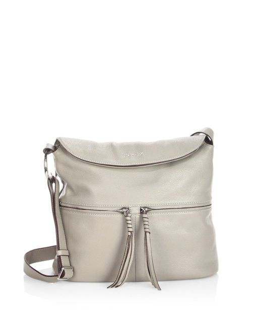 Elizabeth and James - Gray Cynnie Flap Leather Crossbody Bag - Lyst
