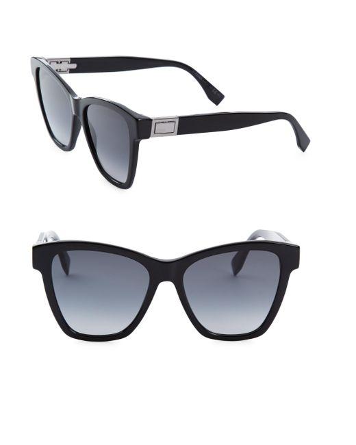 Fendi - Black 55mm Oversized Cat Eye Sunglasses - Lyst