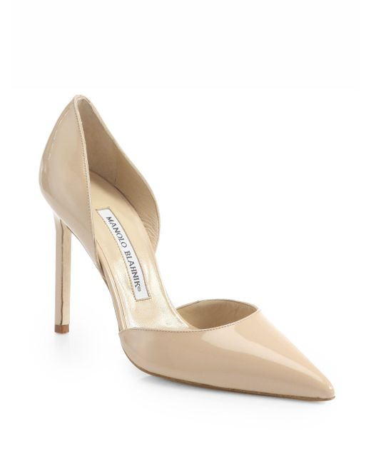 Manolo Blahnik - Natural Tayler 105 Patent Leather D'orsay Pumps - Lyst
