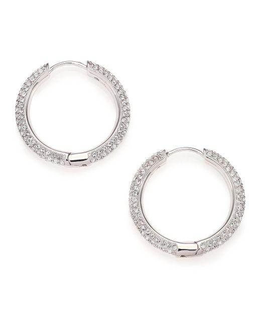 Adriana Orsini - Metallic Pave Crystal Hoop Earrings/0.9 - Lyst