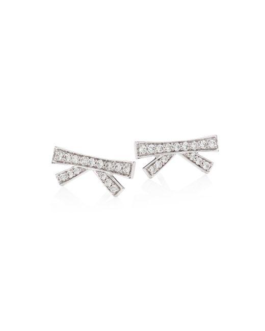 Hueb - Metallic Origami Diamond & 18k White Gold Stud Earrings - Lyst