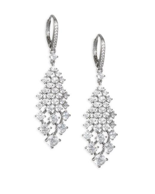 Adriana Orsini - Metallic Leia Swarovski Crystal Silvertone Drop Earrings - Lyst