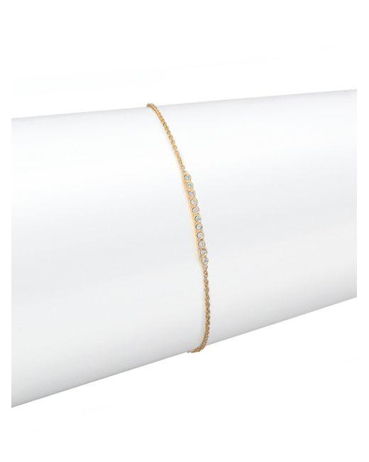 Zoe Chicco - Metallic Diamond & 14k Yellow Gold Bar Bracelet - Lyst