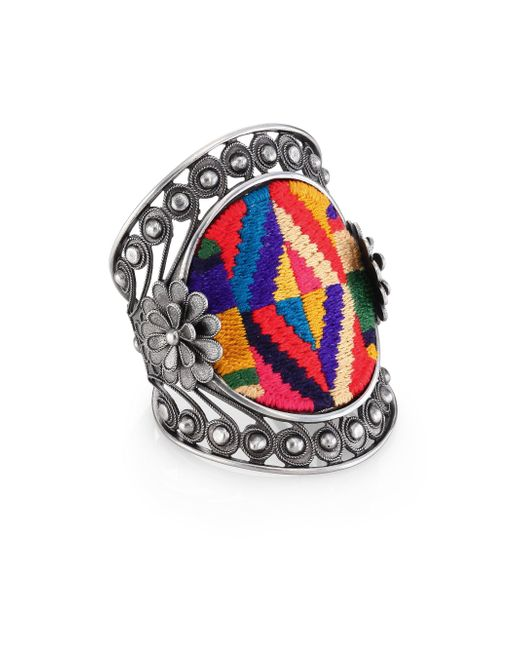 Valentino | Metallic Native Couture Large Cuff | Lyst