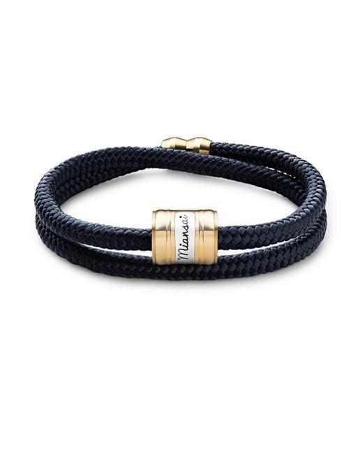 Miansai - Blue Casing Brass Rope Bracelet - Lyst