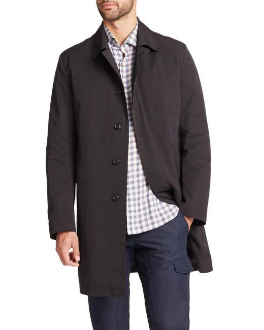 Saks Fifth Avenue - Black Removable Liner Trench Coat for Men - Lyst