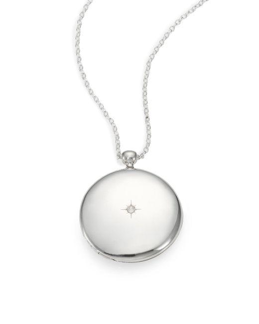 Astley Clarke - Metallic Sterling Silver Large Astley Locket Necklace - Lyst