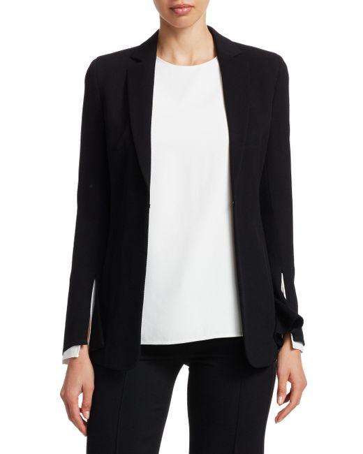 Akris Punto Black Split Sleeve Blazer