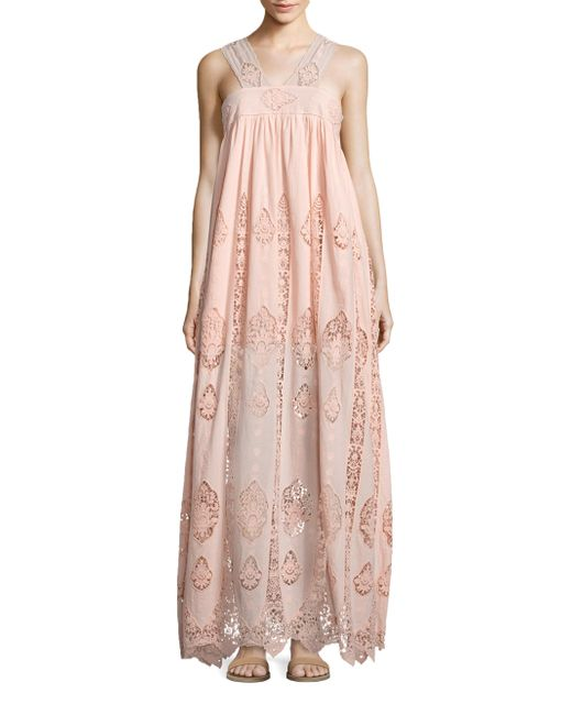 Nightcap   Pink Pixie Lace Gown   Lyst