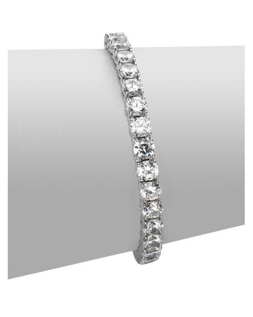 Adriana Orsini - Metallic Sterling Silver Tennis Bracelet - Lyst