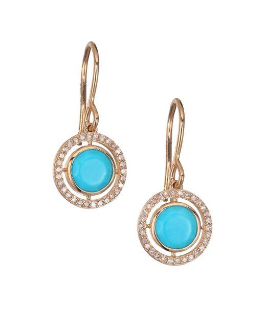 Astley Clarke | Blue Biography Celestial Turquoise, Diamond & 14k Yellow Golddrop Earrings | Lyst