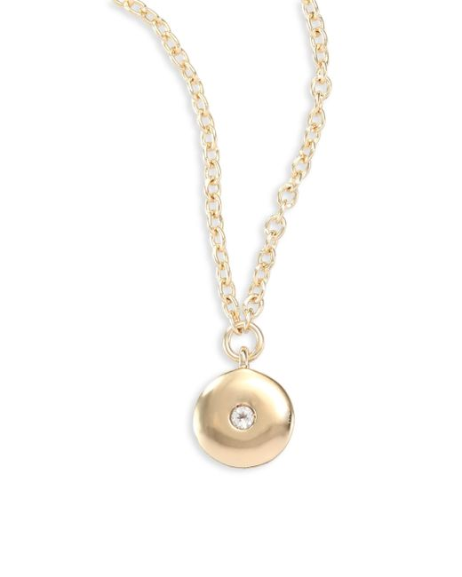 Elizabeth and James | Metallic Raina White Topaz Pendant Necklace | Lyst