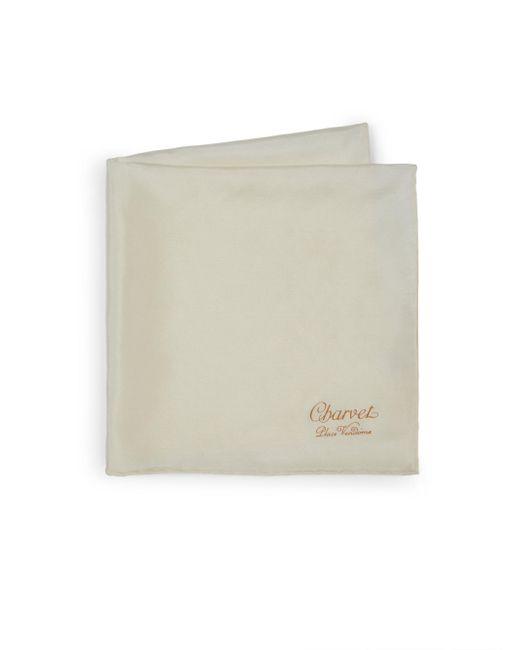 Charvet - Natural Solid Silk Pocket Square for Men - Lyst