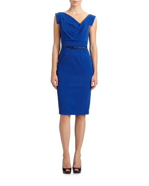 Black Halo - Blue Jackie O. Dress - Lyst