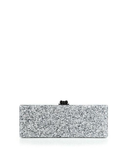 Edie Parker | Metallic Flavia Solid Clutch | Lyst